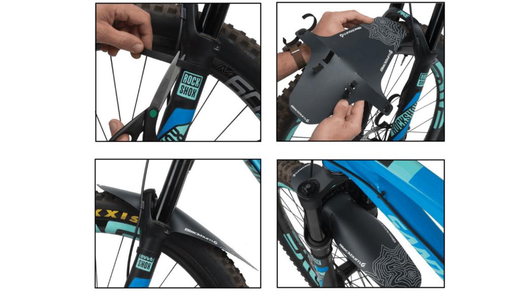 etc. Mud Guard MTB EBIKE vélo Protection tôle race or les par exemple Nicolai Centurion